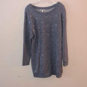 Victoria's Secret Long Grey Sweater